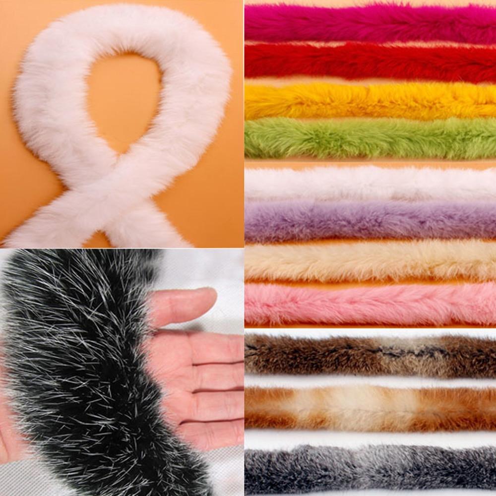 Trimming Faux Rabbit Hair Ribbon Ribbon Rabbit Fur Fluffy Decor 7 Colors DIY
