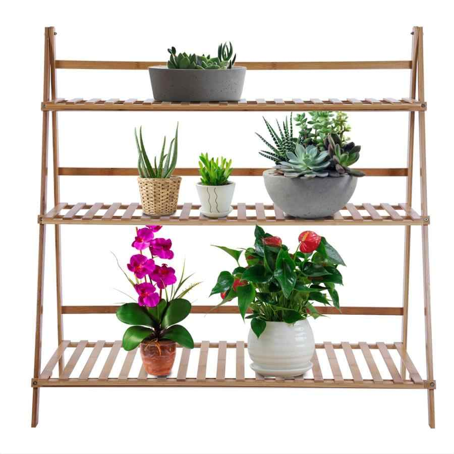 Plant Stand 3 Tier Bamboo Storage
