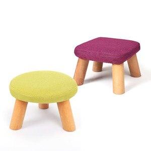 Image 5 - קטן הוקי אופנה מקומי בד אמנות קטן ספה Hocker שולחן תה קצר יצירתי קטן ספסל Hocker לילדים