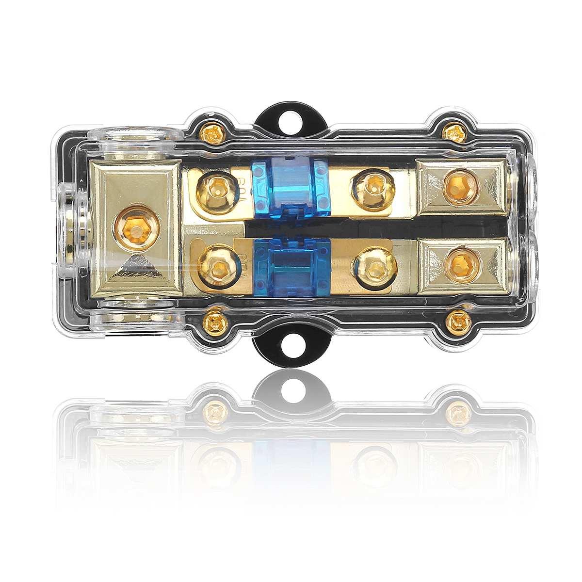 12v 100a plastic car audio fuse holder box 1 in 2 ways out. Black Bedroom Furniture Sets. Home Design Ideas