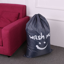 Laundry Bag Large Foldable Nylon Drawstring Laundry Bag Dirty Clothes Storage Bags Home Laundromat Travel Clothes Organizer