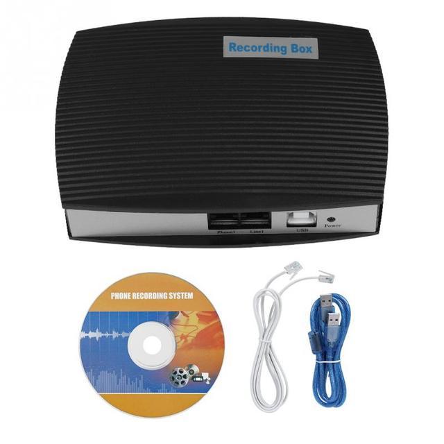 1-Monitoramento em tempo Real do canal-Caixa de Gravação de Telefone Fixo Monitor de Monitor de Sistema de Gravação Telefônica Chamando Dictafones