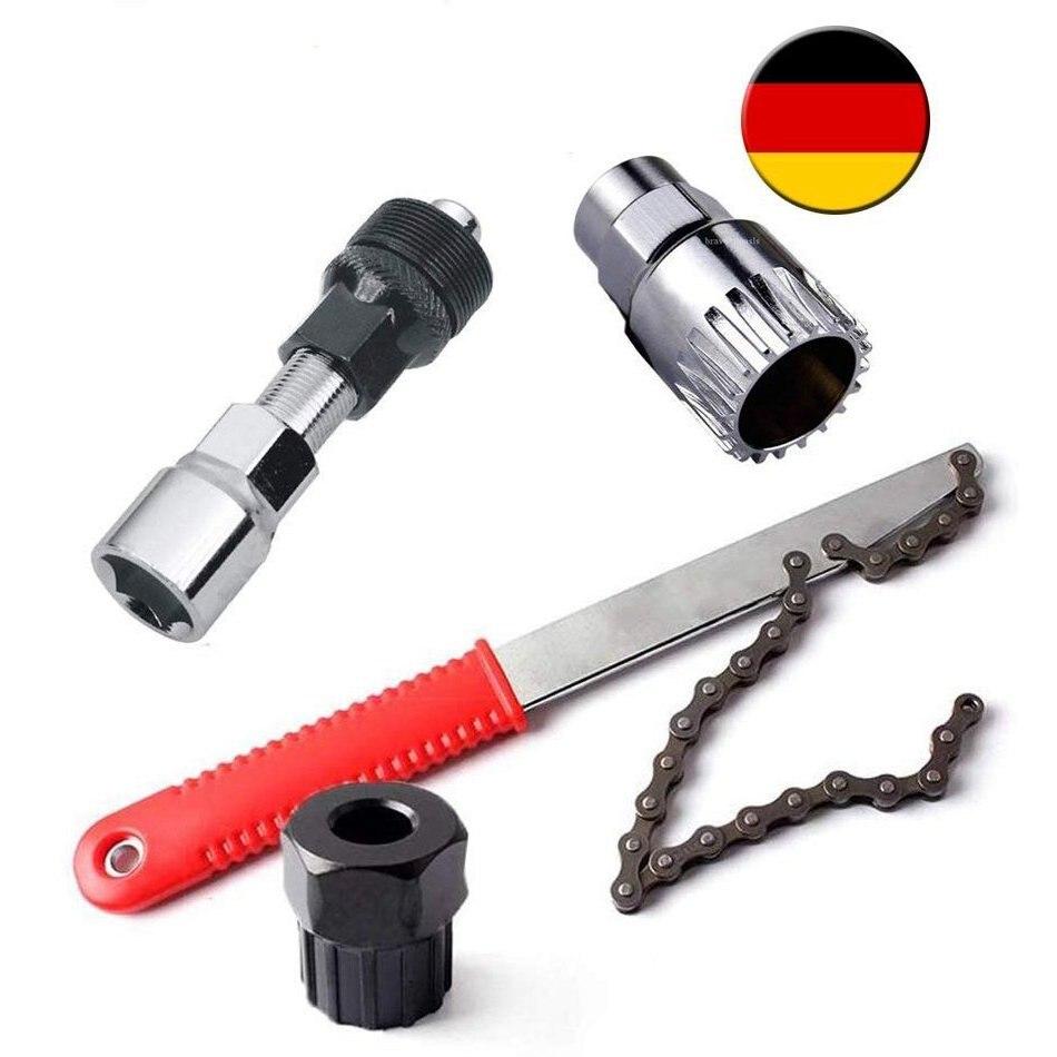Bicycle Tools 4 In 1 Pedal Drive Bottom Bracket Crank Sprocket Puller Cassette Puller Including Crank Trekker/Trapas/Dental Crow