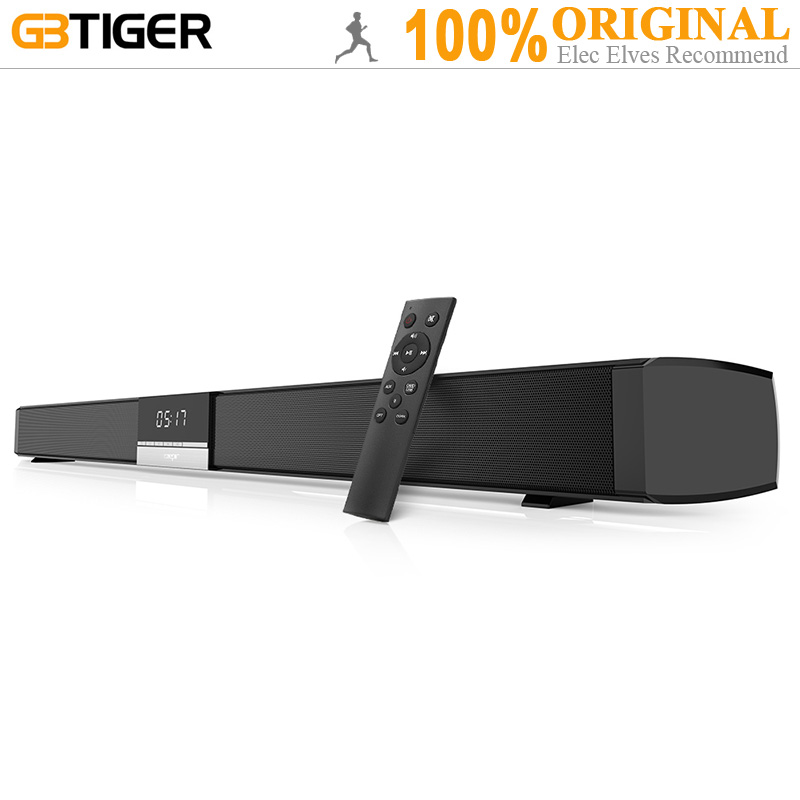 GBtiger ZEE Senza Fili di Bluetooth Soundbar Altoparlante Home Theater Audio Stereo 4 Pieno di Frequenza Altoparlanti Soundbar Per TV Proiettore