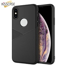 KISSCASE Business Leather Phone Case For iPhone XR X XS MAX Soft Silicone 8 7 6 6s Plus Fundas Coque Covers Capa