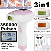 3 in 1 350000 Pulsed IPL Laser Hair Removal Device Permanent Hair Laser Removal IPL Laser Epilator Armpit Hair Removal Machine