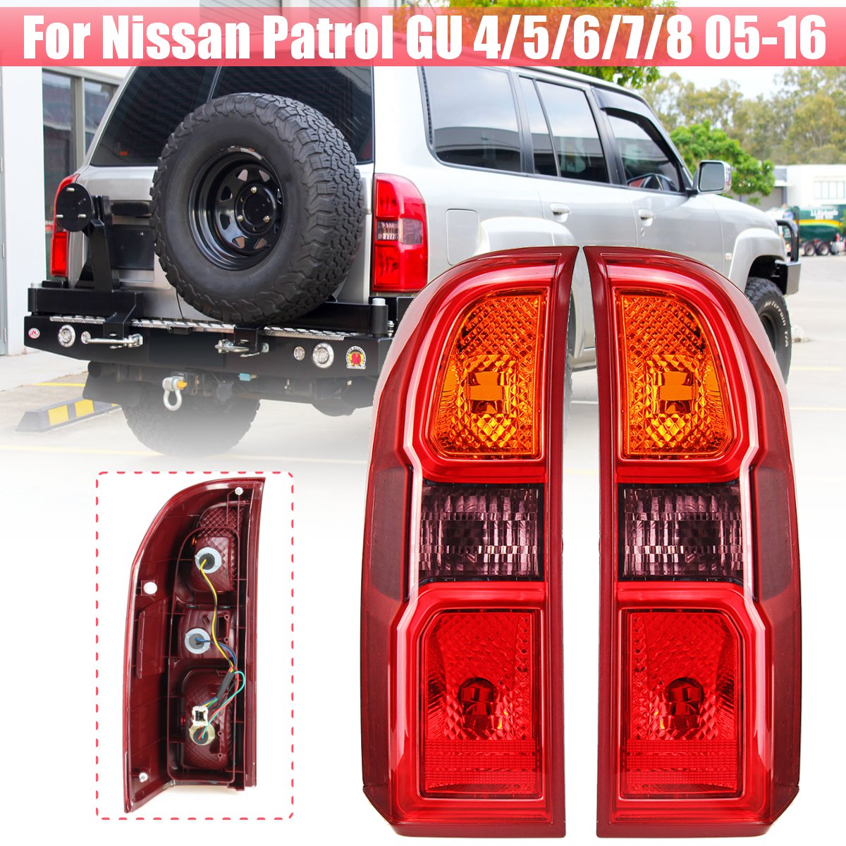 Rear Tail Light Brake Lamp Tail Light Lamp For Nissan Patrol GU 4/5/6/7/8 2005 2006 2007 2008 2009 2010 2011 2012-2016Rear Tail Light Brake Lamp Tail Light Lamp For Nissan Patrol GU 4/5/6/7/8 2005 2006 2007 2008 2009 2010 2011 2012-2016