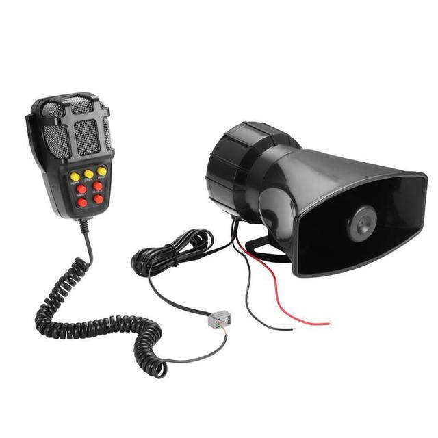 US $14 17 19% OFF|Car Alarm Speaker Holder Tone Sound Car Recording  Emergency Car 7 siren sounds Horn Mic PA Speaker System Amplifier Hooter-in