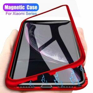 Магнитный адсорбционный чехол 360 для xiaomi mi 8 lite 9 mi9 pocophone f1 f 1 redmi note 7 6 5 pro, чехол ksiomi note7, стеклянная крышка, чехлы