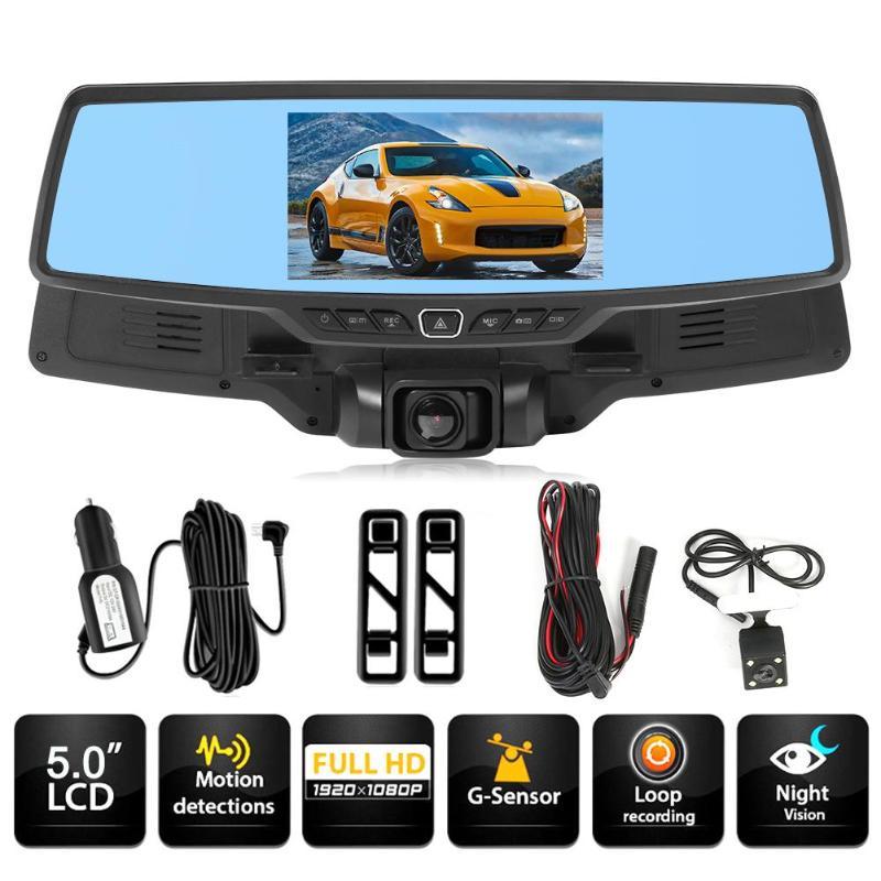 VODOOL DVR Camera Video-Recorder Car-Rearview-Mirror Starlight H703 Dual-Lens Night-Vision