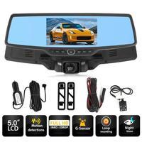 VODOOL H703 5 Inch Car Rearview Mirror DVR Camera Novatek 96655 Dual Lens Starlight Night Vision Car Dash Camera Video Recorder