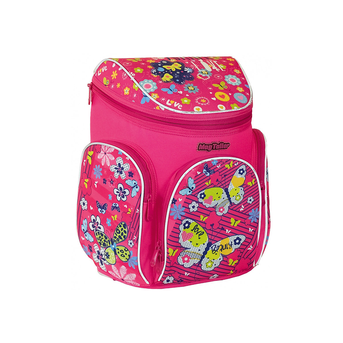 School Bags MAGTALLER 8316002 Schoolbag Backpack Orthopedic Bag For Boy And Girl Animals Flowers MTpromo