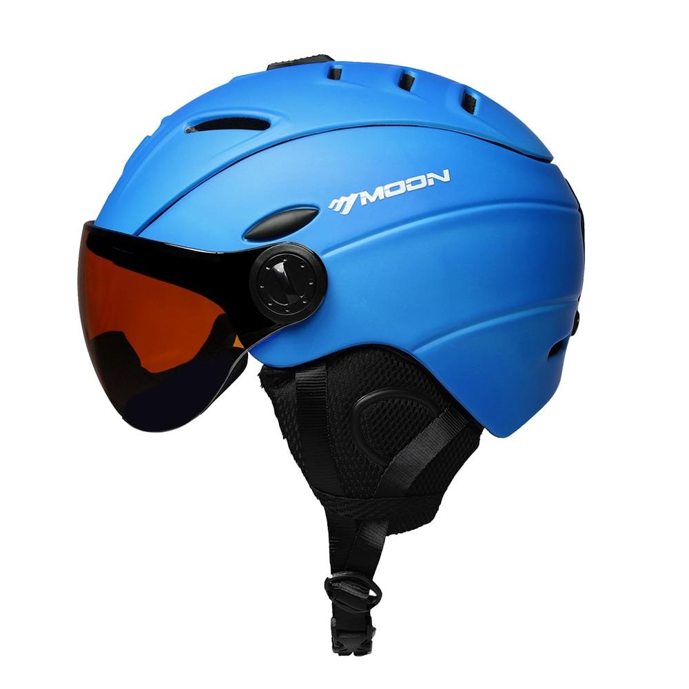 2019 Neuer Stil Outdoor Sport Sicherheit Skateboard Ski Snowboard Helm Berufs Skifahren Schnee Sport Helm Abnehmbare Ohrenschützer Eingebaute Brille Gut FüR Energie Und Die Milz