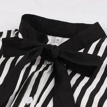 Vintage Stripe Midi Dress Women Summer 50s Bow Collar Elegant Office Casual Stylish Goth Ladies Retro Rockabilly Dresses