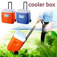 Outdoor Home Cooler With Wheels Drawbar PU Food Incubator Refrigerated Fresh keeping Cold Storage Container Large Ice Bucket