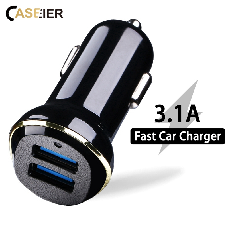 CASEIER Usb-Car-Charger Tablet Mobile-Phone Max-3.1a Dual-Port For XR XS Fast IOS Android