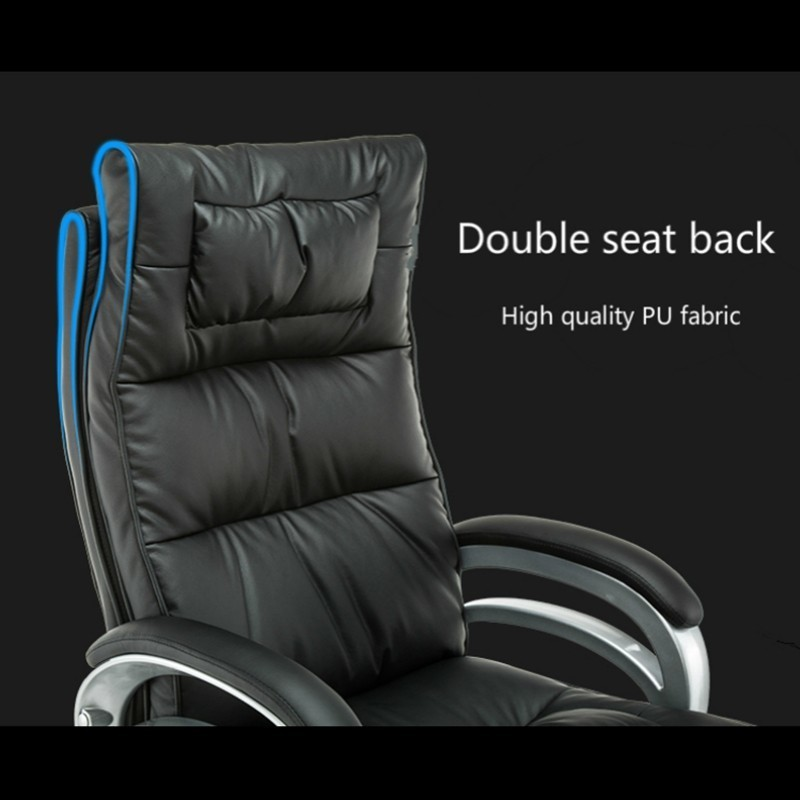 Купить с кэшбэком Office Chair Lifted Rotated Gaming Seat with Footrest Massage Computer Chair Reclining Boss Stool Simple Household