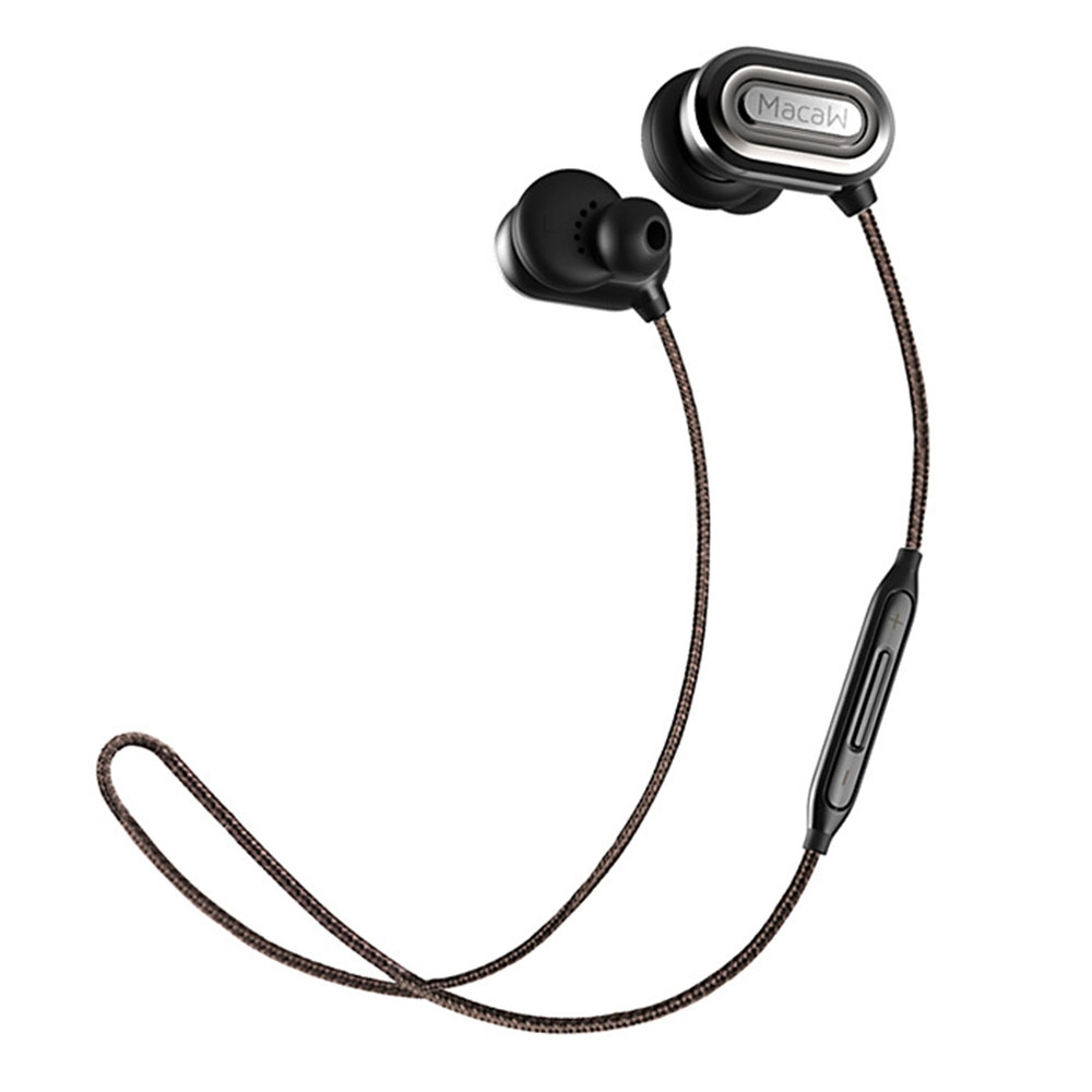 T1000 Wireless Bluetooth Sport Earphone Original with HiFi Music In-ear Earbuds Support Hands-free Calls Nylon Braided Cable