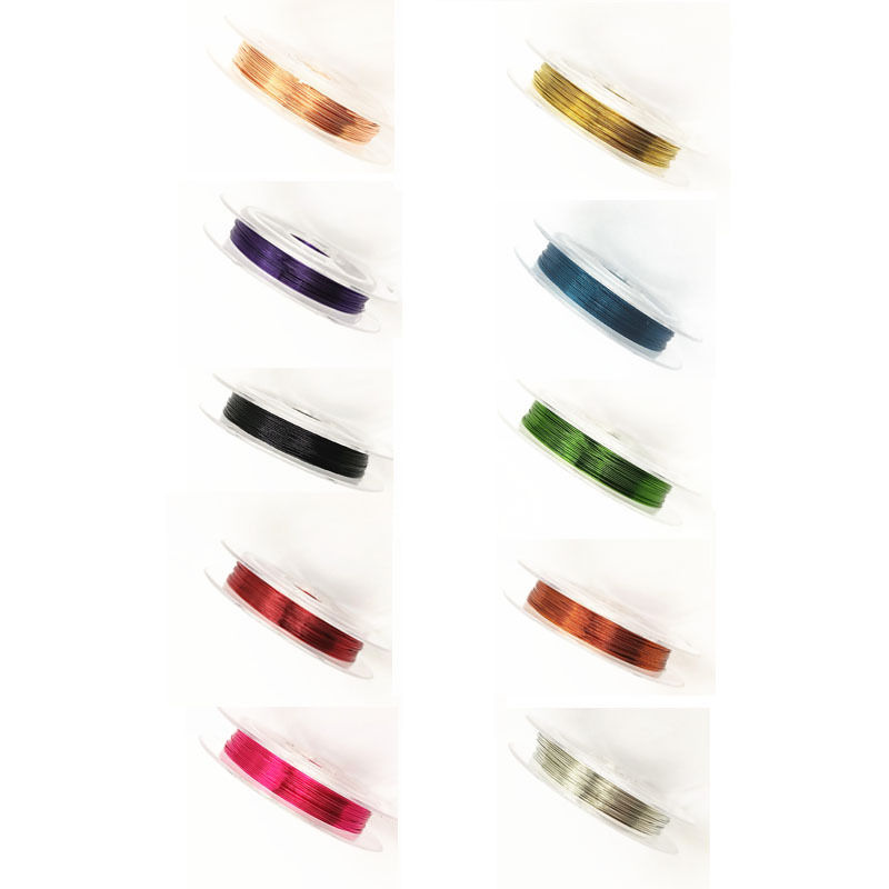10m Wire Beading Copper Cord String Jewelry Making Multicolor Accessories 1 Roll