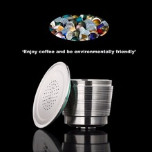 Refillable Nespresso Coffee Capsules Tamper Set Reusable Stainless Steel Espresso Pod Filter Rechargeable Nespresso Coffee Tool капсулы smart coffee club nespresso decaf 10шт