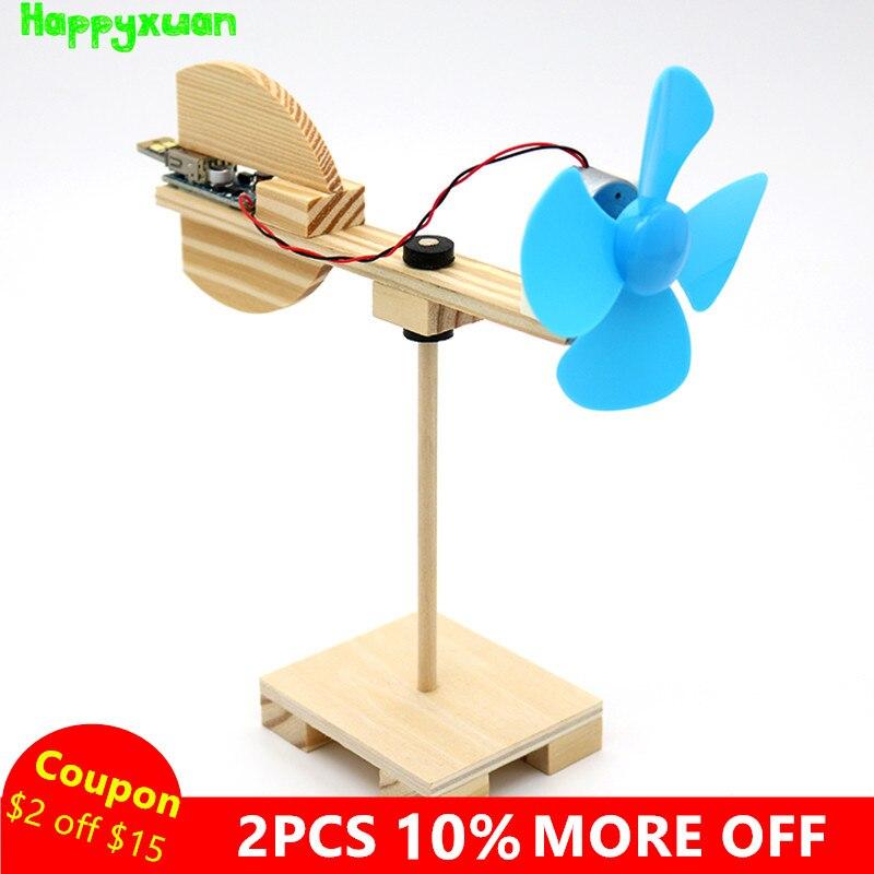 Happyxuan Diy Wind Turbine Model Kits Kid Science Experiments Projects Creative Montessori Primary School Education Stem Toys