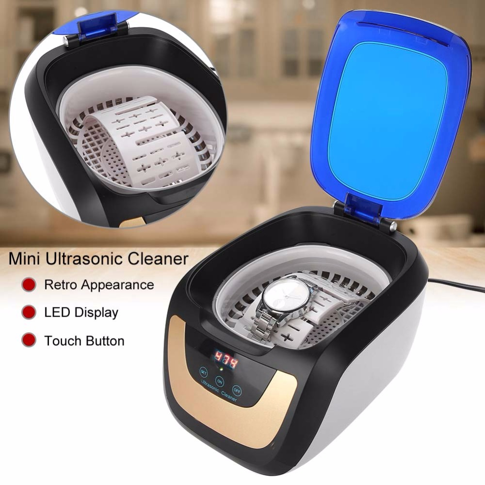 Ultrasonic Cleaner Nail Tools Sterilizer Nail Nipper Dental Care Tool Tweezers Disinfector Sanitizer Box Case Manicure