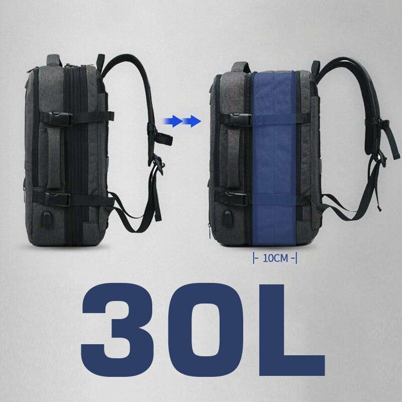Sac à dos pour ordinateur portable sac de voyage femmes hommes affaires sac à dos 30L grand extérieur mâle sac à dos intelligent Anti-vol mâle 15.6 retour emballage