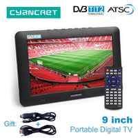 LEADSTAR 9 inch Portable TV DVB-T2 ATSC tdt Digital and Analog mini small Car Television Support USB TF Card PVR MP4 AC3