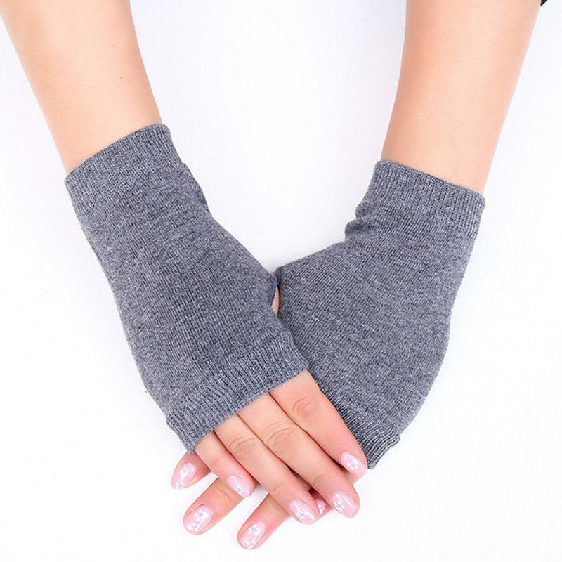 Stretchy Warmer Fingerless Wrist Gloves Women Fashion Solid Mittens Adult Gloves Women Hot Sale