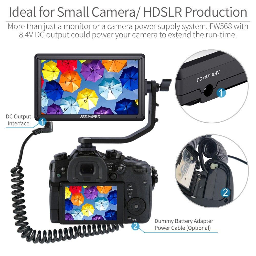 FEELWORLD FW568 5,5 pulgadas DSLR Cámara Monitor de campo 4K HDMI Full HD 1920x1080 LCD IPS salida de CC Enfoque de vídeo asistencia para cámaras - 2