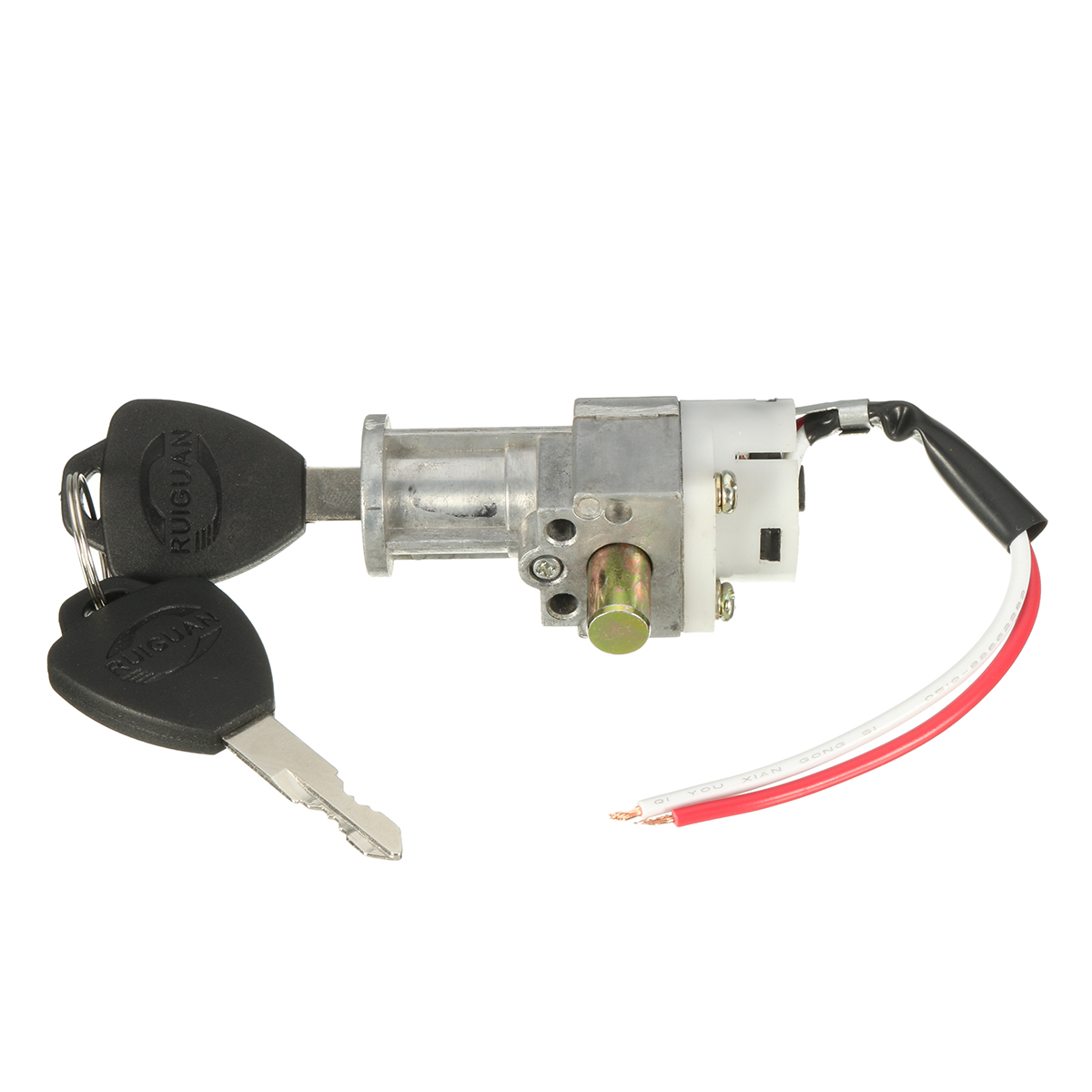 1x Universal Battery Chager Mini Lock With 2 Keys For Motorcycle Electric Bike Scooter E-bike Electric Lock With 2 Keys