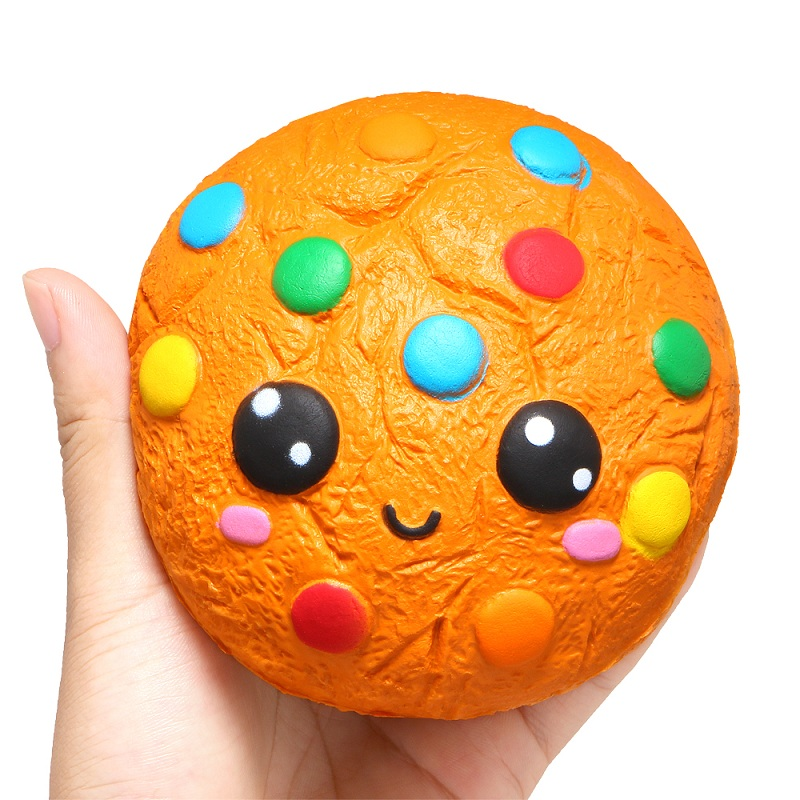 Squishy Kawaii Biscuit Chocolate Cake Bean Biscuits Cookie Squishi Toy Stress Relief Scented Squishies Slow Rising Food Toys