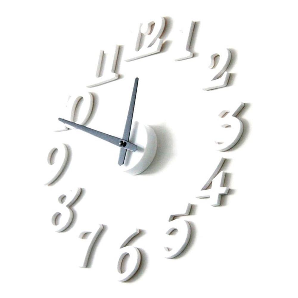 JEYL Unique Design Home Decor Wall Clock (White)