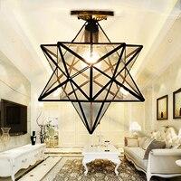 Потолочный светильник  винтажный  с подвеской из стекла Tiffany