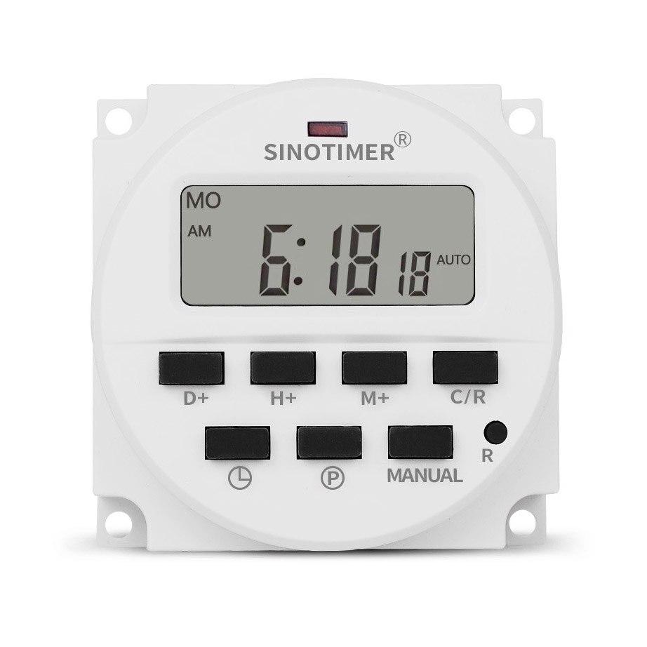 Timer Sinotimer Tm618h-2 220 V Ac Digital Zeit Schalter Ausgang Spannung 220 V 7 Tag Wöchentlich Programmierbare Timer Schalter Für Lichter Applicati