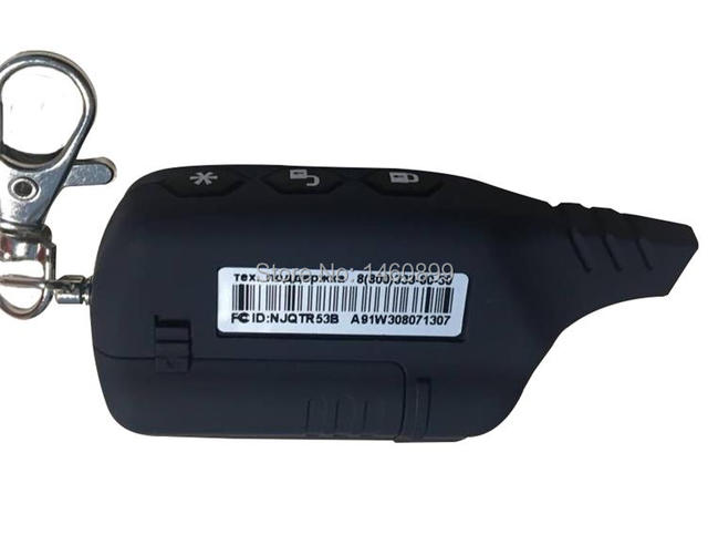 A91 2-way LCD Remote Control Key Fob For Russian Anti-theft Vehicle Security Two way Car Alarm System Starline A91