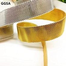 3, 6, 9, 12, 15, 20, 25, 30 мм металлическая шелковая лента DIY Browband для одежды, подарочная упаковка для выпечки, двусторонняя золотисто-серебристая Блестящая лента
