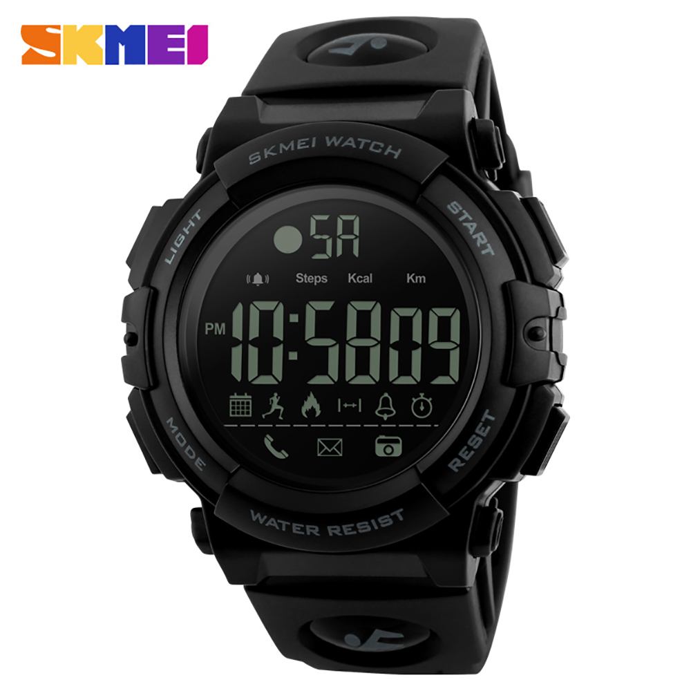 <font><b>SKMEI</b></font> <font><b>1303</b></font> BT Smart Watch Fashion Outdoor Pedometer Calories Remote Camera Sports Watches Digital Wristwatches SmartWatch image