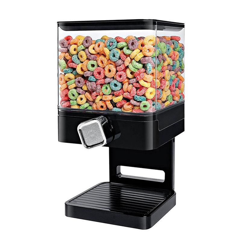 Plastic Double Cereal Dispenser Dry Food Storage Container Kitchen Machine For Wall Mounted Snack Food Fresh Canister Box dispensador de cereal peru