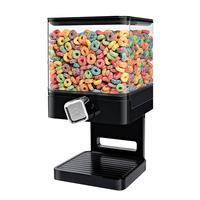 Plastic Double Cereal Dispenser Dry Food Storage Container Kitchen Machine For Wall Mounted Snack Food Fresh Canister Box