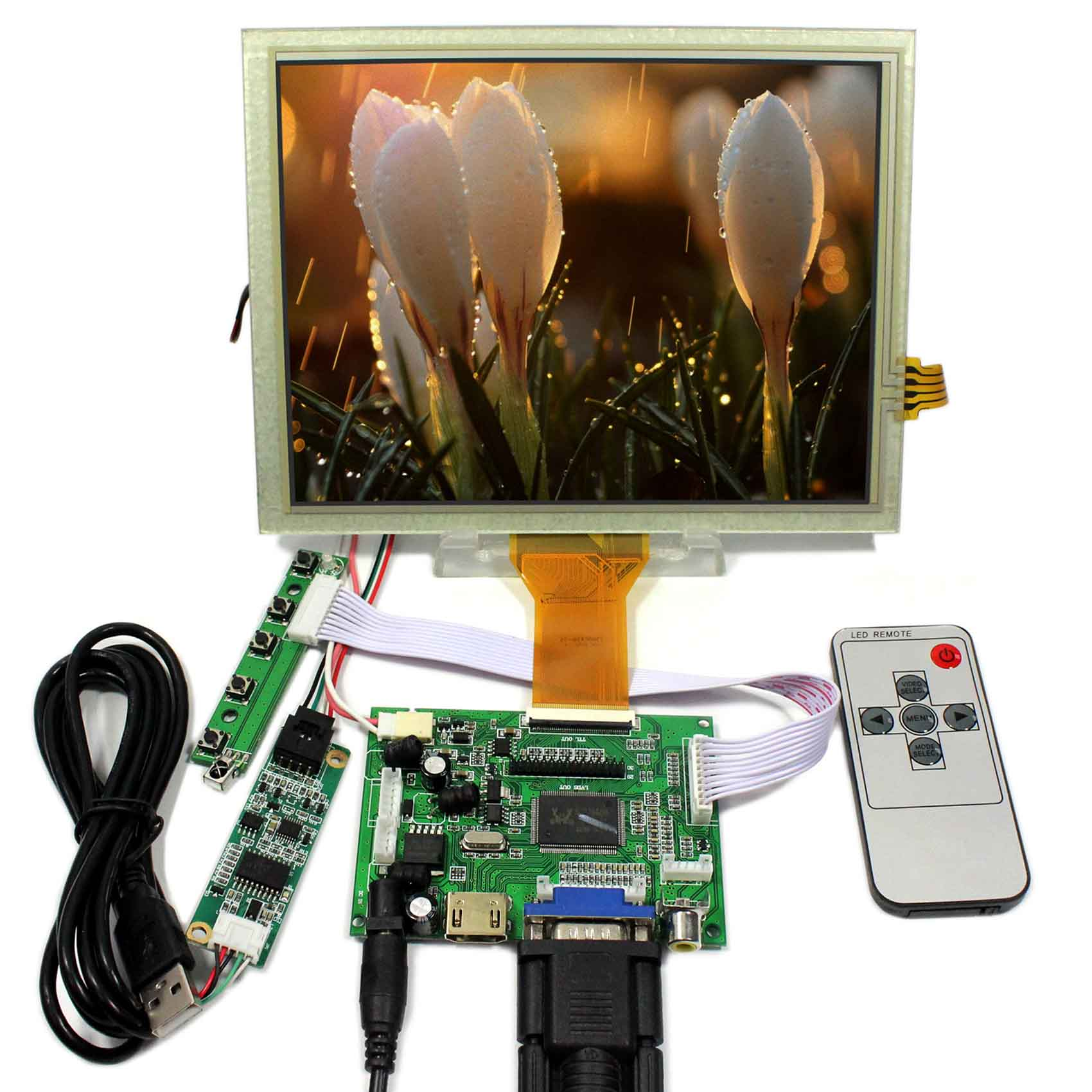 8inch LCD Screen EJ080NA-05A HDMI VGA 2AV LCD Controller Board Touch Panel 4wire Resistive Resolution 800x600 Remote Control8inch LCD Screen EJ080NA-05A HDMI VGA 2AV LCD Controller Board Touch Panel 4wire Resistive Resolution 800x600 Remote Control