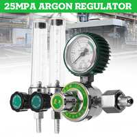 0 25Mpa Argon Regulator Reducer Anti vibration Diaphragm Double Tube Meter Flowmeter Argon Arc Welding Machine