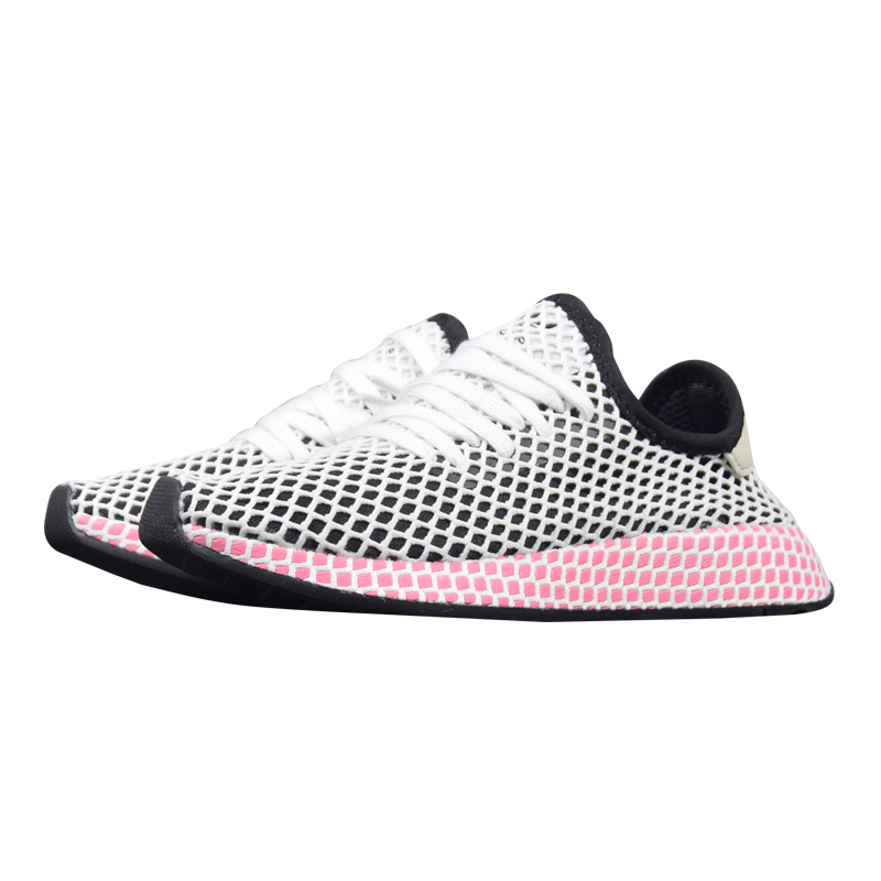 0c9c6cd0b Adidas Deerupt Runner Women Running Shoes Black   Pink Pink Wear resistant  Breathable Lightweight Sneakers  CQ2909 CQ2910-in Running Shoes from Sports  ...