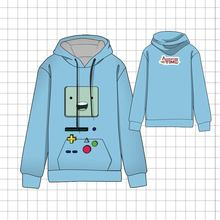 Hot  Anime  Adventure Time with Finn and Jake BMO Finn Cosplay Hoodies Standard Hooded  Winter Tops Unisex funny Sweatshirts цена