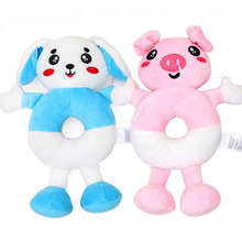 Baby Newborn Plush Hand Shake Ring Toy Cute Rattle Grasp Infant Appease Dolls YJS Dropship цены
