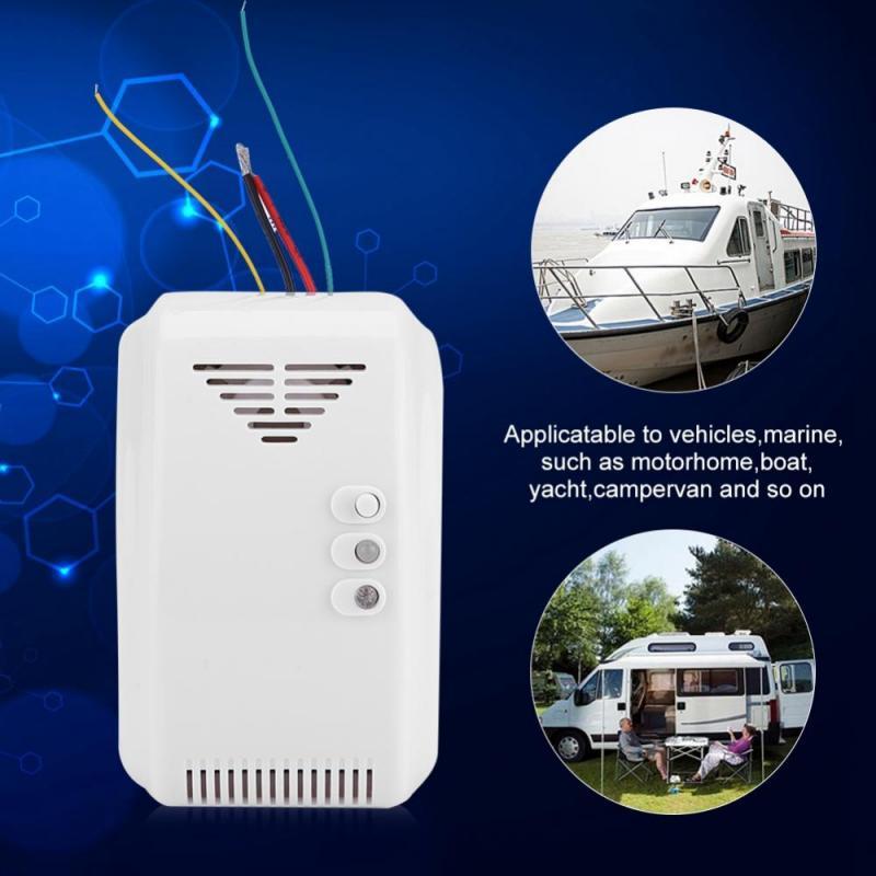 цена на 12V Gas Alarm Detector Propane Butane Sensor Wireless Gas Leakage Detector for home security alarm system gas sensor detector