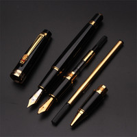 High Quality Luxury Business Office Fountain Pen Ink Pen Nib Dragon Design Signing Ink Ball Pen Set Gift Box 03863