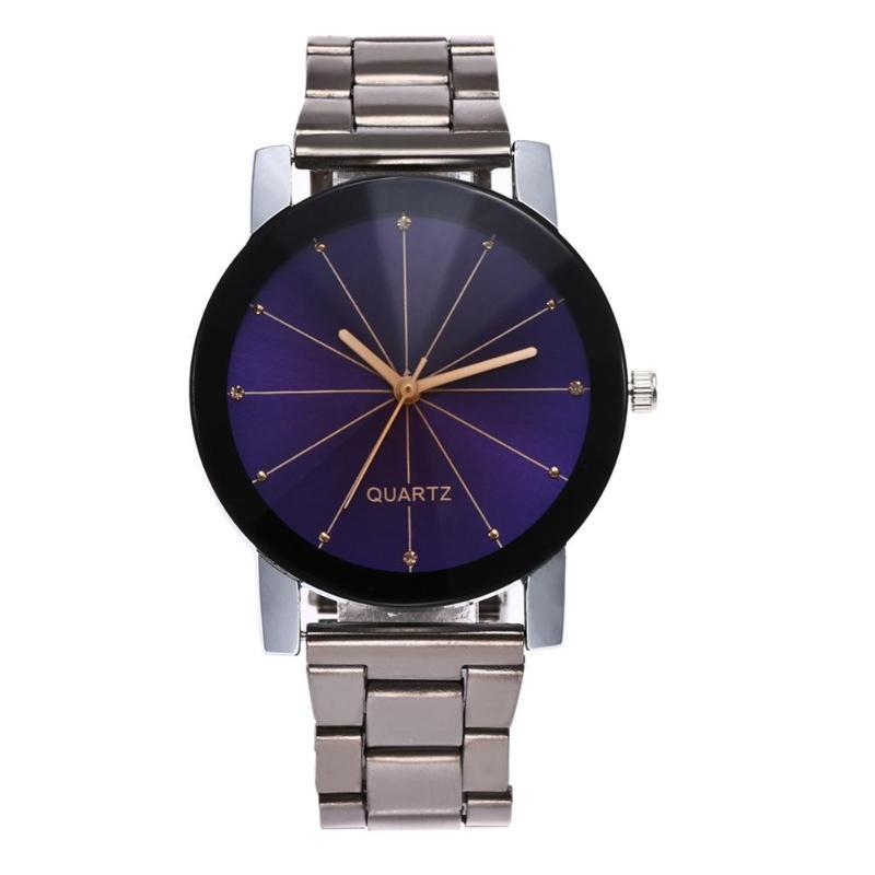 2019 Watch Men Unisex Quartz Sport Military Stainless Steel Dial Leather Band WristWatch Men Women Watch Clock Gift