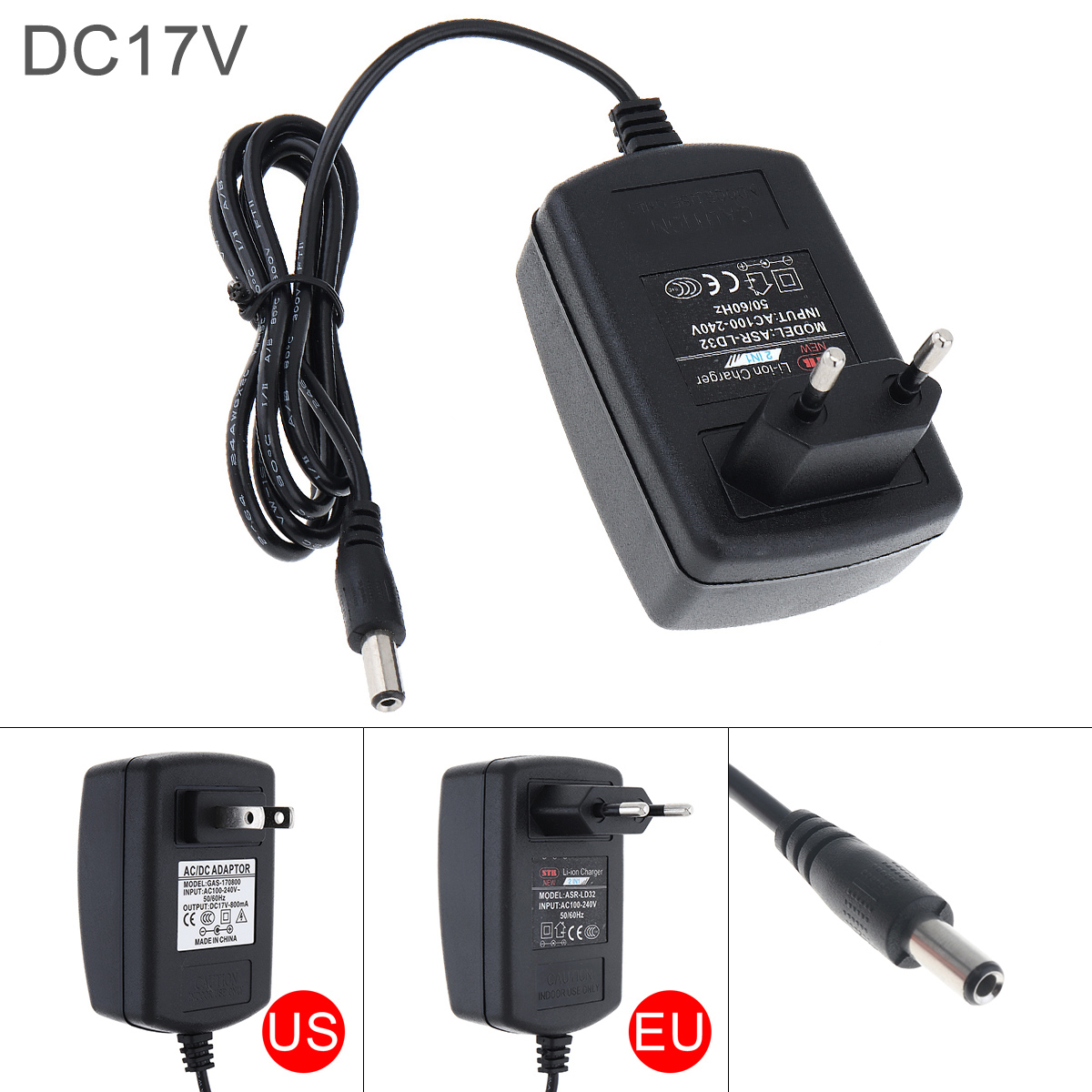 DC 16.8-17V Portable Lithium Battery Rechargeable Charger Support 100-240V Power Source For Lithium Electrical Drill Screwdriver