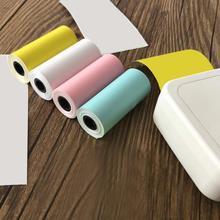 1 рулон 57*25 мм красочная термопечать липкая бумага для MEMOBIRD GT1 GO G3 POS фотопринтер